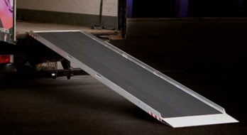 Aluminium Low loader ramp