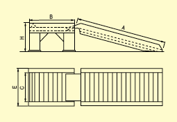 Maintenance ramp technical drawing