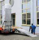 Spring assistance for aluminium loading ramps