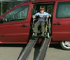 Wheelchair non-slip trough ramps